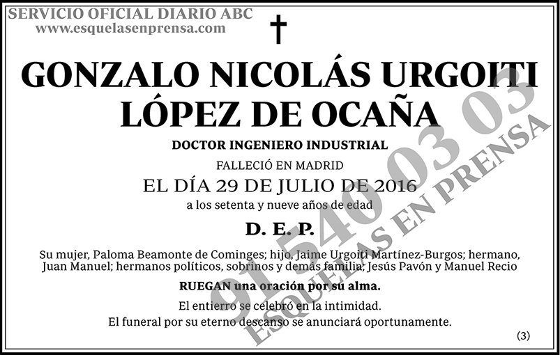Gonzalo Nicolás Urgoiti López de Ocaña